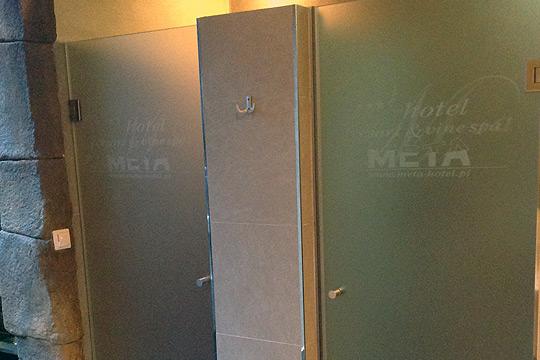 kabiny prysznicowe - szkło mleczne